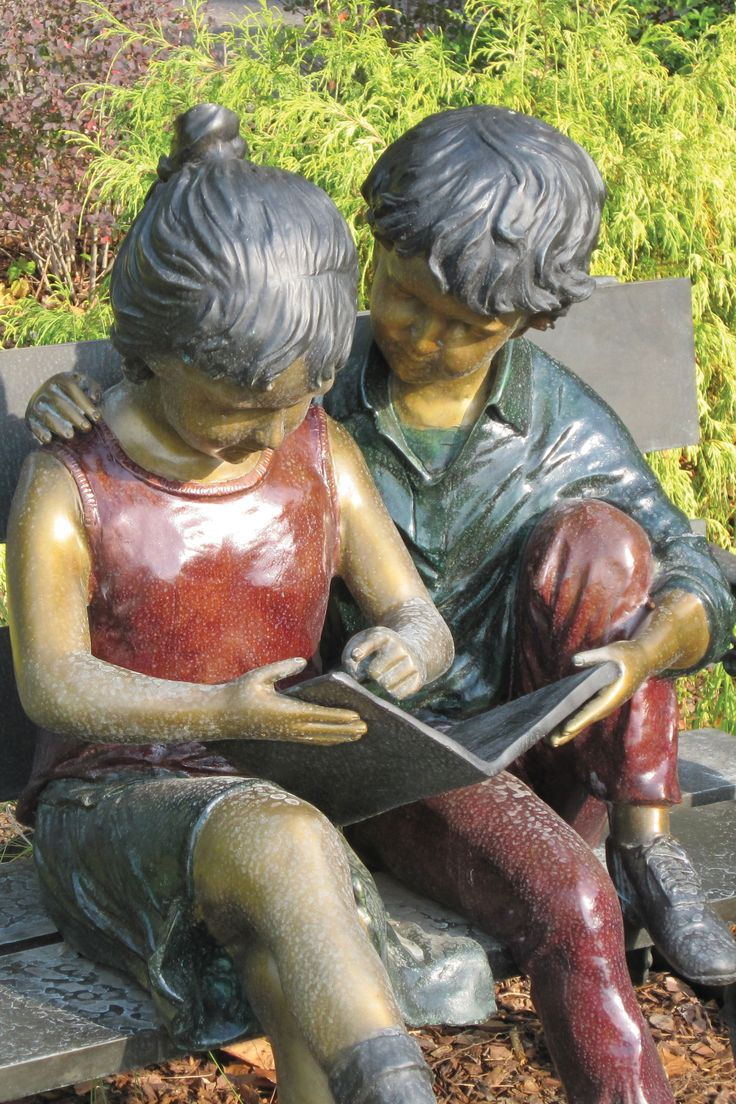 Sculpture at the Madison branch of the Huntsville-Madison County Public Library, in Madison, Alabama