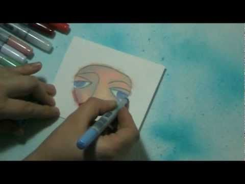 #15 Bloknote TV - Art Journaling: Coloring a face with copic markers - YouTube