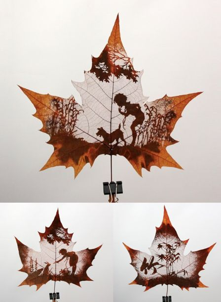 Leaf carving... simply amazing!