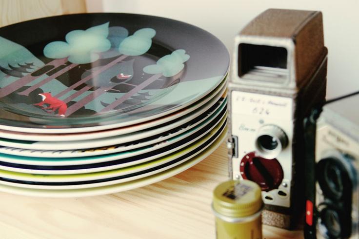 Monsterthreads melamine plates