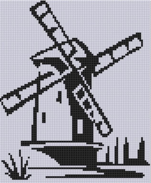 Looking for your next project? You're going to love Dutch Windmill Cross Stitch Pattern  by designer Motherbeedesigns.