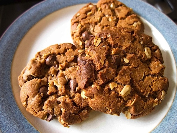 Peanut butter nutella cookiesDesserts, Peanuts, Chocolates Chips, Cookies Monsters, Nutella Oatmeal, Nutella Cookies, Butter Nutella, Savory Recipe, Peanut Butter