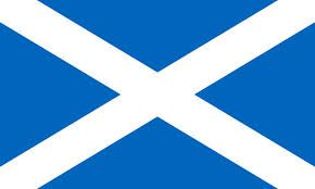 St. Andrew's Cross or the Saltire  - Flag of Scotland