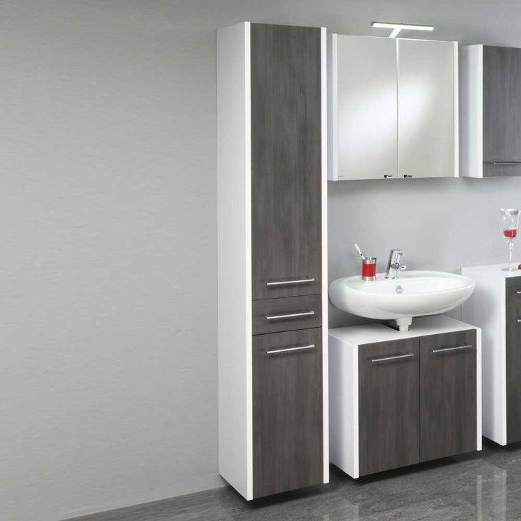 badezimmer hochschrank in wei grau hngend jetzt bestellen unter httpsmoebel - Badezimmer Grau