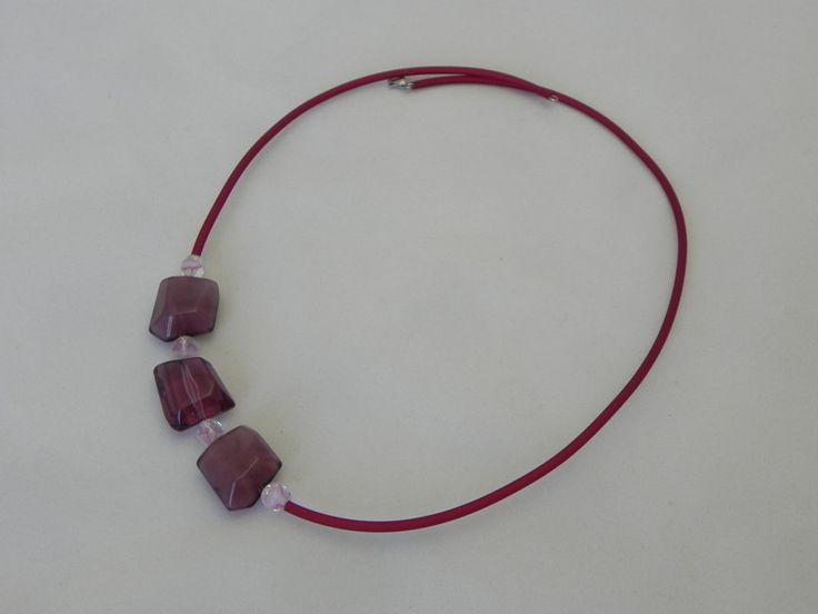 collana+gomma+e+resine+-+viola+di+SpinzMade+su+DaWanda.com