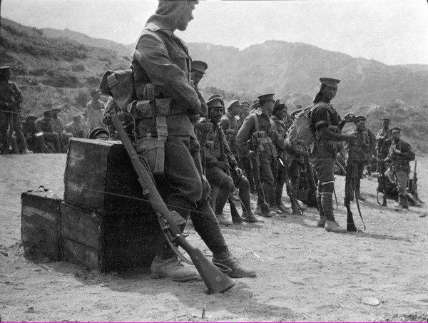 Maori Battalion at Gallipoli, 1915.