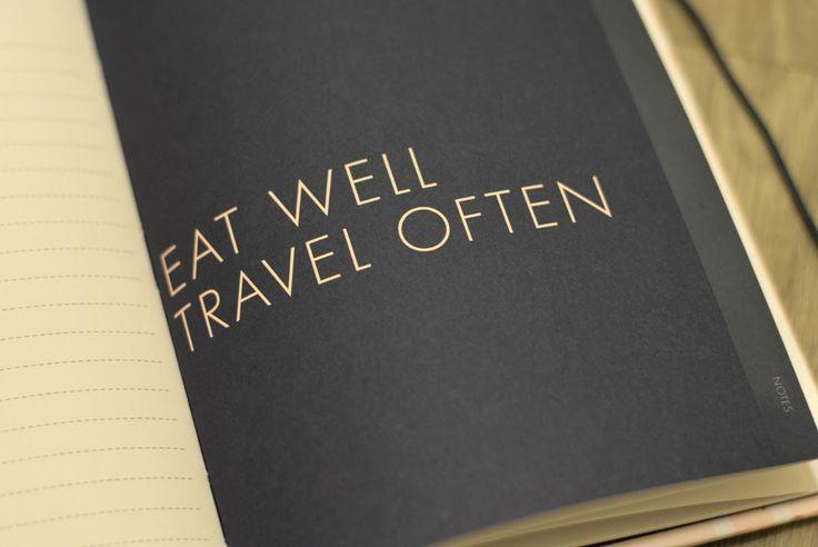 FOOD PAPER TRAVEL: Cestovní deníky: Kikki.k vs. Moleskine