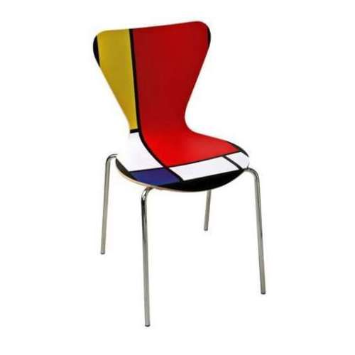 Chapter 23. De Stijl furniture Arne Jacobsen - Mondian (De Stijl) Inspired 7 Series Chair.