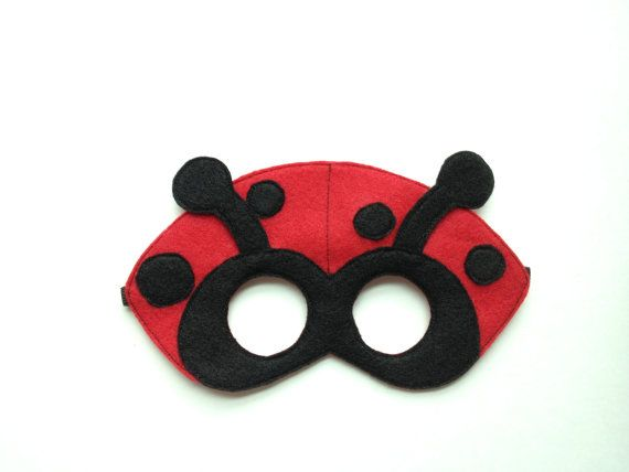 Ladybug Mask CHILD by oppositeoffar on Etsy, $16.00