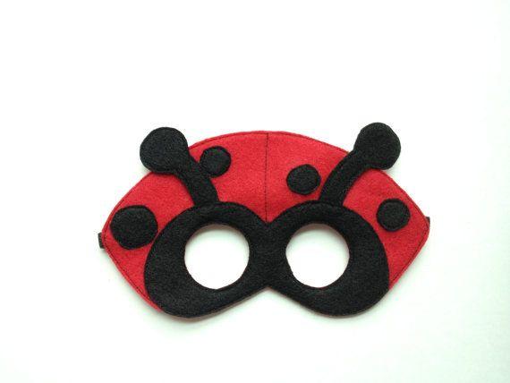 Ladybug Mask CHILD by oppositeoffar on Etsy, $16.00
