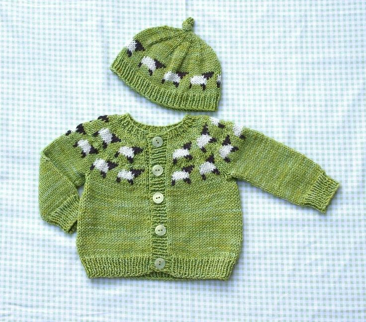 Cute little knitted sheep sweater - download the pattern and find all the supplies at LoveKnitting!
