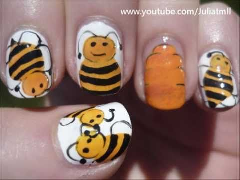 48 best nail art bees images on pinterest bees bumble bees and bee honeycomb nail art summer tutorial prinsesfo Choice Image