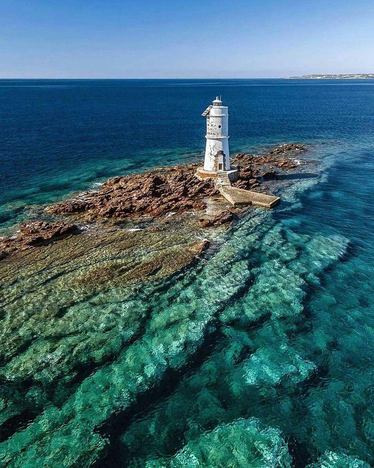 """3,586 Likes, 23 Comments - FocuSardegna (@focusardegna) on Instagram: """"Faro di Mangiabarche (altezza 12mt) Calasetta (Sud Sardegna)  Photo: @marklions  Raccontaci con una…"""""""
