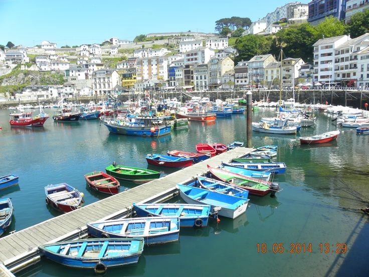 Luarca puerto, Asturias