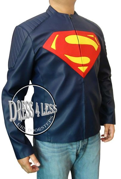 Superman Blue Leather Jacket ALL SIZE AVAILABLE