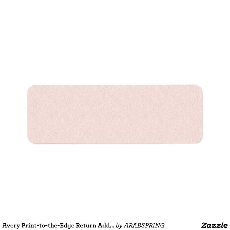 Avery Print-to-the-Edge Return Address Labels PINK