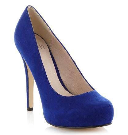 Scarpe blu con tacco Debenhams