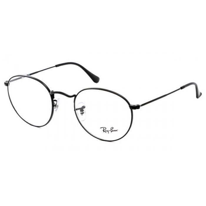 Armacao P Oculos De Grau Ray Ban Round Rx3447 Preto With