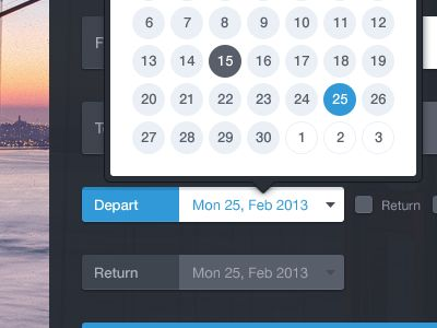 Dribbble - Select date by Frantisek Kusovsky