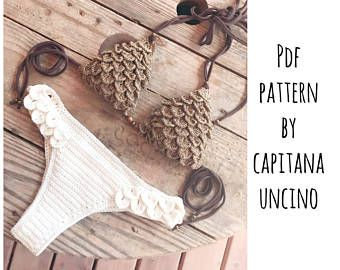 PDF Crochet PATTERN for Lorelei Crochet Bikini Top and