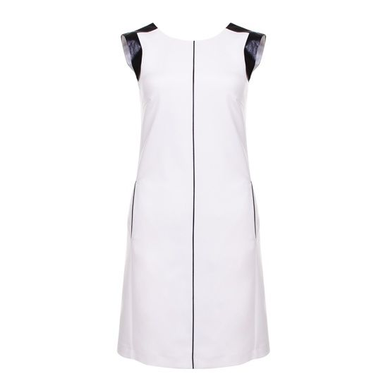 Купить Платье с карманами и кожаными вставками Zarina