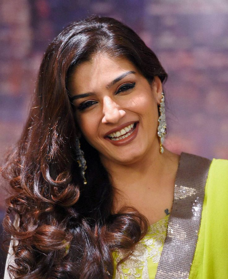 Bollywood actress Raveena Tandon during the poster launch of first Bollywood feature film 'Rab Naa' in New Delhi.