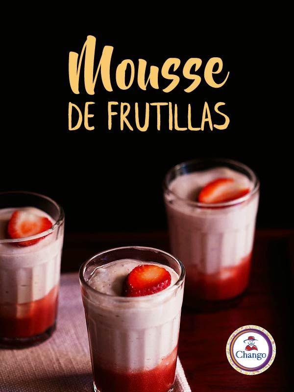 Si te gustan las frutillas, no dudes en hacer esta delicia:   #Repostería #Mousse #Bakery