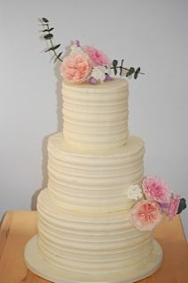 buttercream rustic romantic tiered wedding cake with david austin roses wwws k cakes
