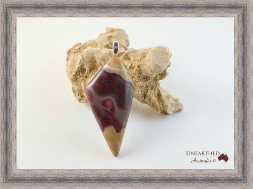 """Mookaite Pendant """"Icecream Cone """" SKU: UA153 AU$90.00"""