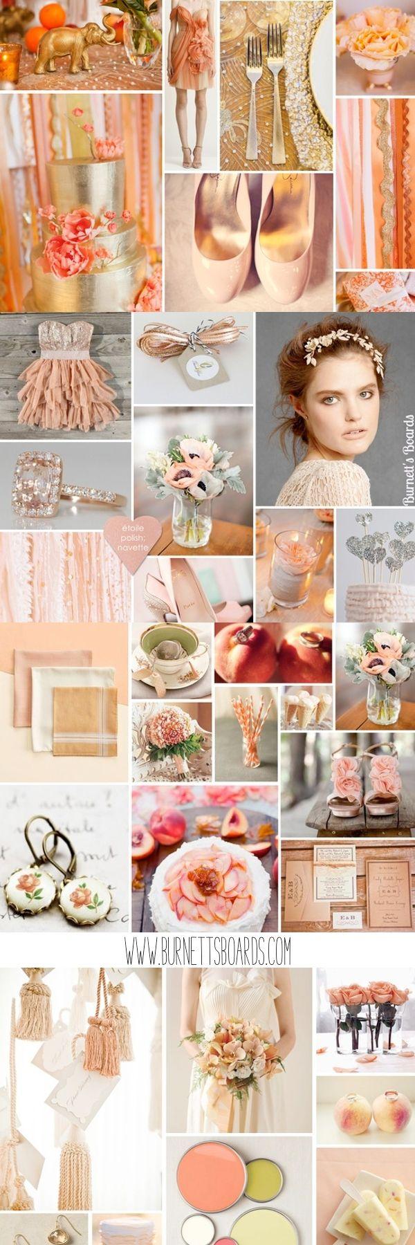 Peach Wedding Inspiration ~ #peach #wedding #inspiration @WedFunApps wedfunapps.com ♥'d via BurnettsBoards