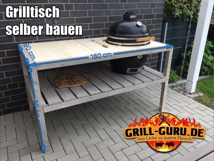 Selbstgebauter Grilltisch für den Monolith Classic – aubenkuche.diyhomedesigner.com