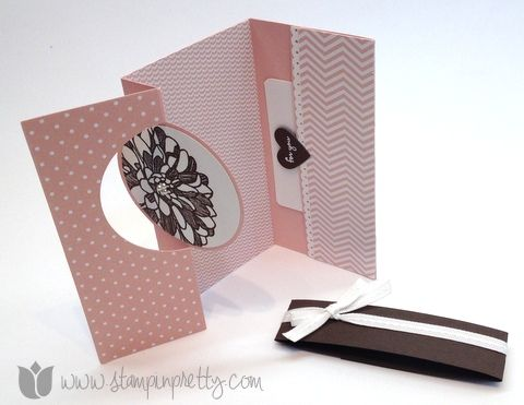 Stampin up mary fish stamp it pretty order thinlits thinlets card die gift card holder idea