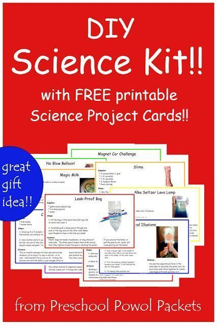 DIY Gift: Science Kit for Kids! (with FREE download!!) | Preschool Powol Packets