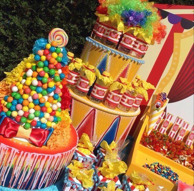 Circus theme- birthday party in turkey - By Derin Parti Evi- sirk temali dogum- gunu partisi - yas gunu