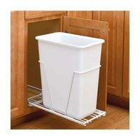 """Standard Close, Bottom Mount Pull-Out. Fits minimum cabinet width 11-3/8"""". Dimensions: 11-1/4"""" W x 22"""" D x 23-1/4"""" H. 1 White bin, 50 quarts per bin. RV Series, White Polymer Bin, 11-1/4 W x 22 D x 23-1/4 H  <img class='imgFreeShipping' src='/skin/common_files/images/wwe/one-year-of-free-shipping.png' alt='Want a year of free shipping? Click here to learn about our PRO Membe..."""