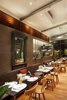 Image result for rustic cafe interior design