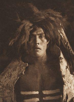 Buffalo Dancer - Mandan (The North American Indian, v. V. Cambridge, MA: The University Press, 1909)