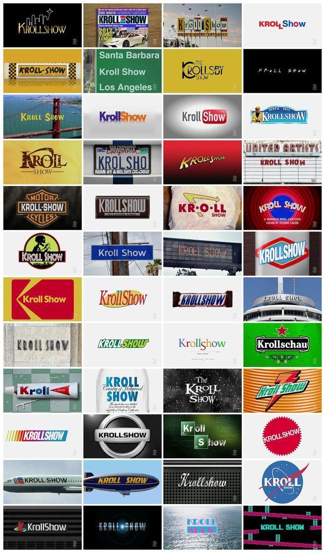 """Kroll Show"" title design"