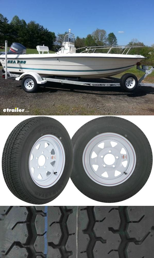 Get superior traction in wet or dry condition with these trailer tires, perfect for boat trailers especially. Special trailer tire design couple the strength of a bias tire with the durability and stability of a radial tire. Double steel belts and full nylon plies combine for superior function and long life.