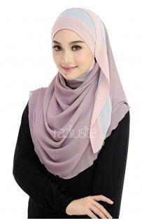 Hana Halfmoon in Dusty Purple/ Light Gray/ Dusty Pink