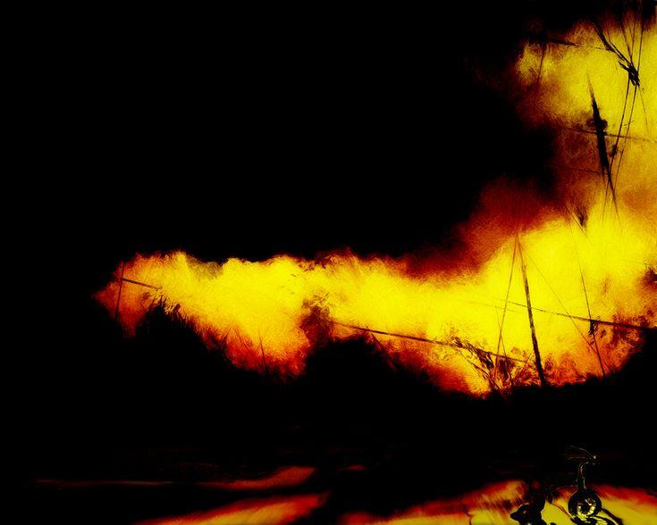 """Fire at Rainy Lake"" - free print download"