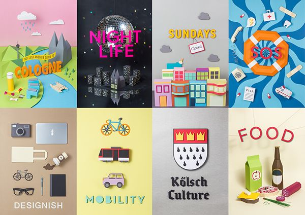 Not just another guide to Cologne on Behance