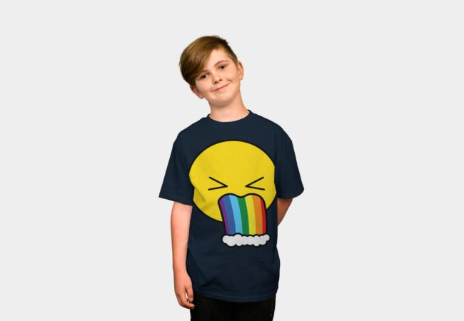 Puke Rainbow - Emoji by #Beatrizxe   #designbyhumans #dbh #shirt #tee Vectorial illustration of an emoji puking rainbow. Funny and beautiful design hahaha #illustration #vector #emoji #puke #puking #rainbow #fun #funny #beautiful #cute #hilarious #comedy #nerd #geek #pop #humor #puke #rainbow #joke