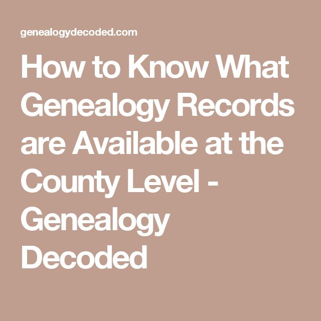 How to Know What Genealogy Records are Available at the County Level - Genealogy Decoded