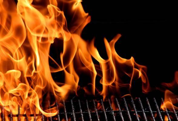 Tone down grill fire