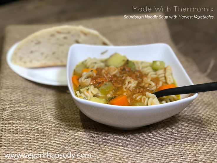 Sourdough Noodle Soup Harvest Vegetables