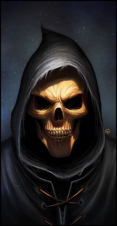 once I saw this but it was, because the others I was with could only see death this way. I stile saw the smile even tho it was a  scull
