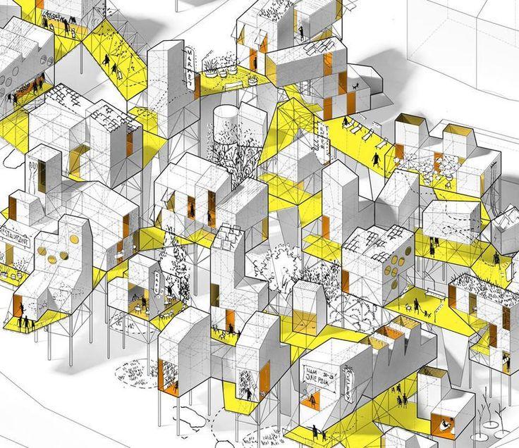 Ik werd getrokken door de ruimtelijke werking van de kleuren, de vlakken, het grafische.. eigenlijk alles! #gonzalo gutiérrez #architectuur