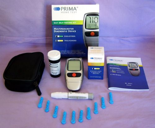 7. PRIMA Cholesterol and Triglycerides 2 in 1 Home Test/Meter Kit Monitoring System
