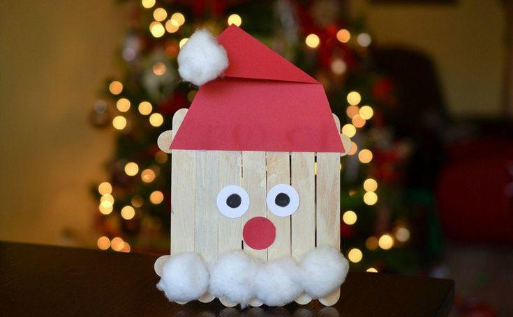 père Noël et autres en bâtonnets de bois